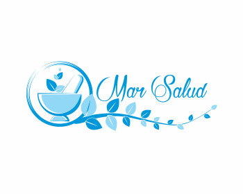 Mar Salud logo design