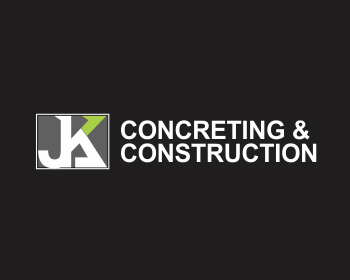 JK Concreting and Construction logo design