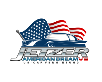 JETZER AMERICAN DREAM V8 logo design