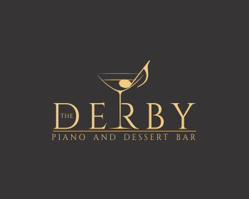The Derby Piano and Dessert Bar logo design