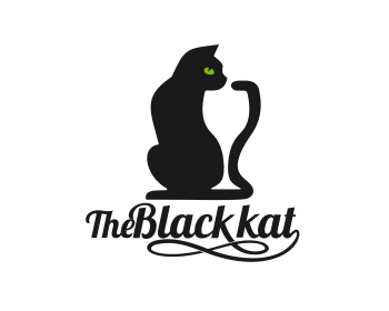 The Black Kat logo design