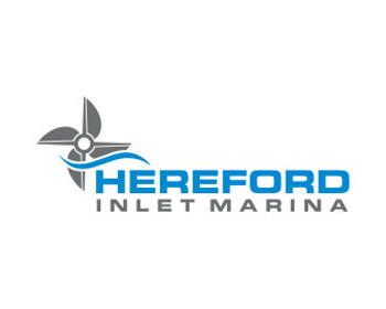 Hereford Inlet Marina logo design