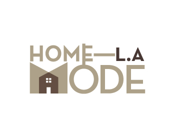 HOME MODE L.A logo design