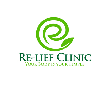 Re-lief Clinic logo design