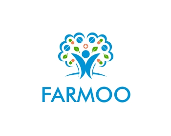 Farmoo logo design