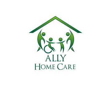 Ally Home Care logo design