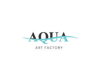 aqua art factory logo design