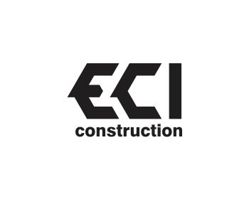 ECI Construction logo design