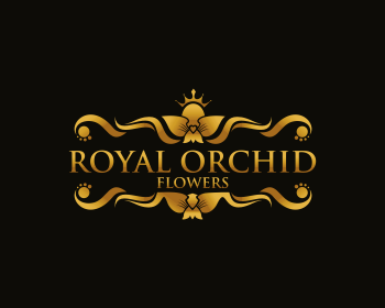 Royal Orchid Flowers logo design