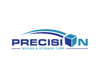 Precision Moving & Storage Corp. logo design