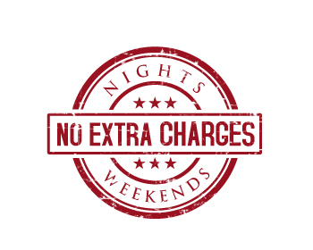 No Extra Charges logo design