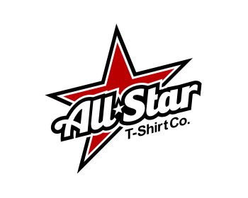 All Star T-Shirt Co. logo design