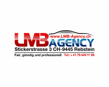 LMB Agency GmbH Stickerstrasse 3 CH-9445 Rebstein logo design