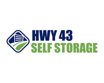 Hwy 43 Self Storage logo design