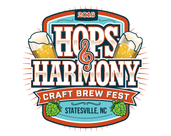 Logo Hops & Harmony Craft Brew Fest