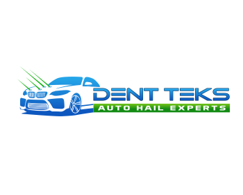 DENT TEKS - Auto Hail Experts logo design