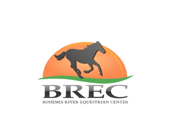 Bohemia River Equestrian Center logo design