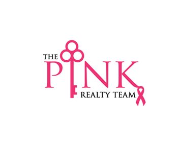 The Pink Realty Team logo design
