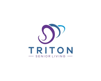 Triton Senior Living logo design