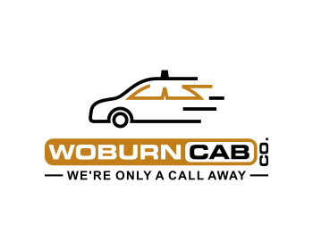Woburn Cab Co. logo design