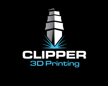 Clipper 3D Printing logo design