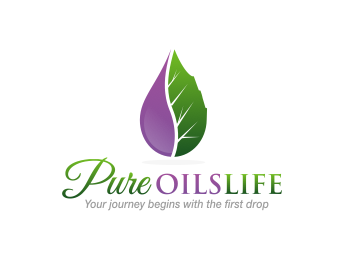 Pure Oils Life logo design