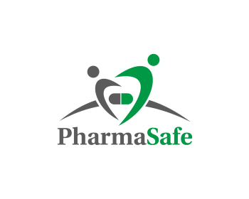PharmaSafe logo design
