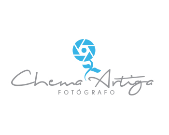 Logo design for Chema Artiga Fotógrafo