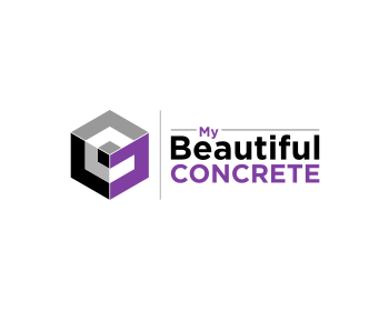 My Beautiful Concrete logo design