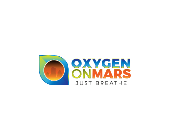Oxygen on Mars logo design