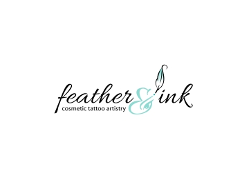 Logo design for feather and ink