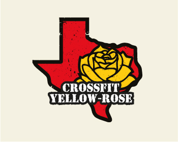CrossFit Yellow Rose logo design