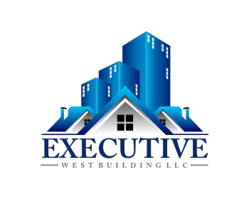 Executive West Building LLC logo design