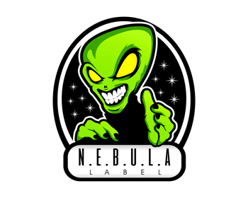 N.E.B.U.L.A. Label logo design