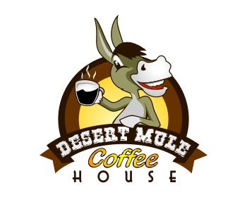 Desert Mule Coffee House logo design