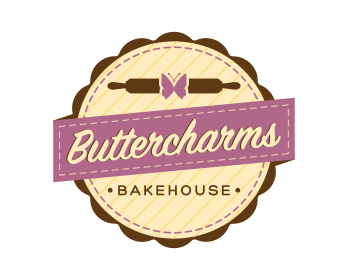 Buttercharms Bakehouse logo design
