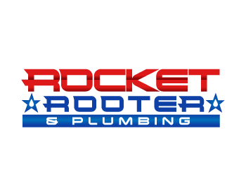 Rocket Rooter and Plumbing logo design