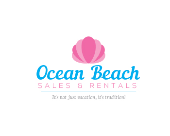 Ocean Beach Sales & Rentals logo design