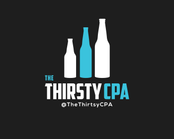 The Thirsty CPA logo design