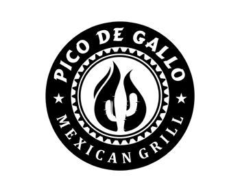 PICO DE GALLO MEXICAN GRILL logo design