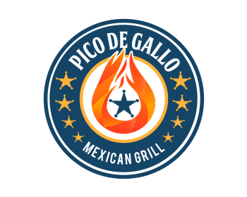 Logo design for PICO DE GALLO MEXICAN GRILL
