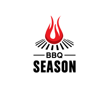 BBQ Season logo design