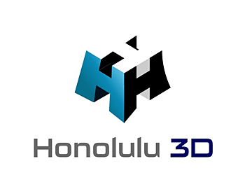 Honolulu 3D logo design