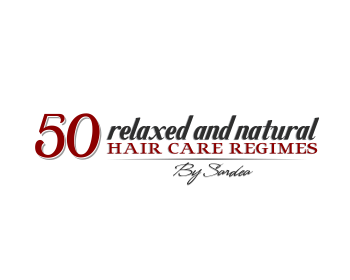 50 relaxed and natural hair care regimes by sardea logo design