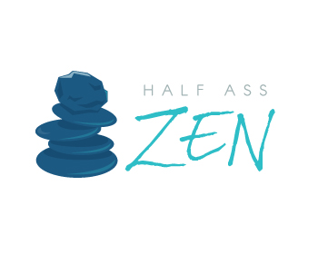 Half Ass Zen logo design