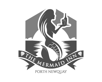 The Mermaid Inn logo design