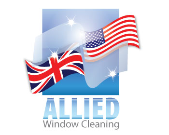 allied window cleaning logo design