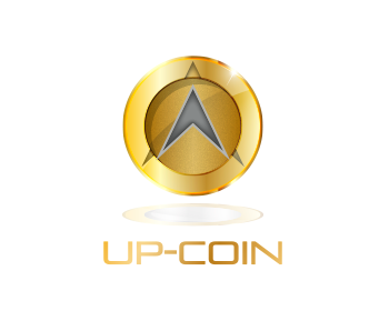 Technology logo design for UP-Coin