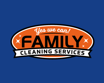 family cleaning services llc logo design
