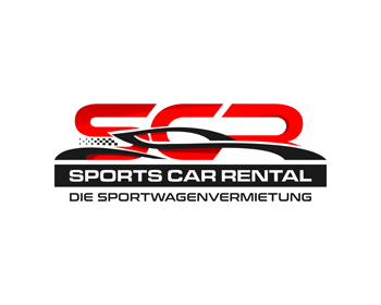 SCR - Sports Car Rental logo design